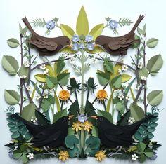 Helen Musselwhite's paper sculptures