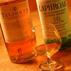 """Smoky Single Malts - Islay (""""Eye-lah"""") is one of the most famous of the classic whisky regions in Scotland.  Here are a few-  Ardbeg: strong smokiness Bowmore: peaty, sweet smokiness Bruichladdich (""""brewk-laddie""""): mild smokiness Lagavulin (""""lagga-voo-lin""""): mellow smokiness Laphroaig (""""la-froyg""""): strong smokiness  And the Only Single Malt Whisky from the Isle of Skye: Talisker (""""tal-is-kur""""): smoky, peppery spiciness"""