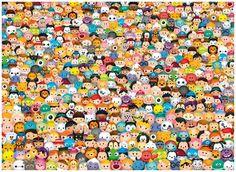 Tsum Tsum - Impossipuzzle - 1000pc jigsaw puzzle