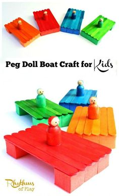 This peg doll boat craft is easy to do with kids. The boats really float and are fun to play with in creeks, pools, lakes, and even the ocean.