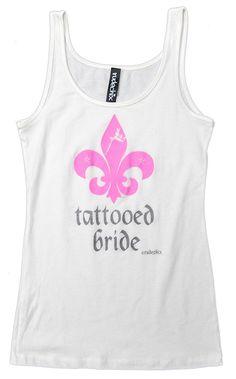 Women's Tattooed Bride White T-Shirt by Rudechix