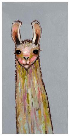 GreenBox Art 'Baby Llama' by Eli Halpin Painting Print on Canvas Alpacas, Lama Animal, Llama Pictures, Llama Arts, Inspiration Artistique, Llama Print, Baby Llama, Grey Wall Art, Art Reproductions