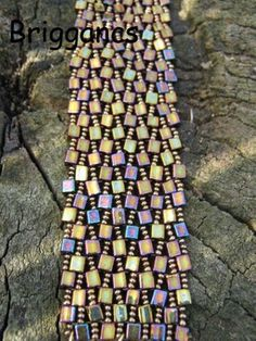 Bracelet: Squares and seeds