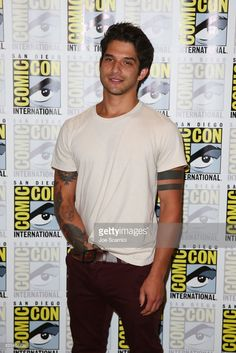 Tyler Posey arrives at the 'Teen Wolf' press line at Comic-Con International 2017 on July 21, 2017 in San Diego, California.