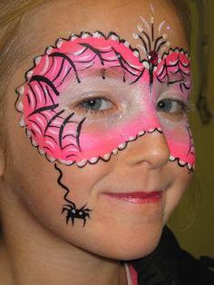 girls spooky face paint facepaint face painting