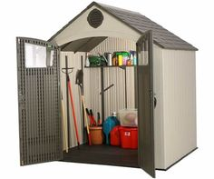 Lifetime 8x6.5 New Style Plastic Storage Shed Kit