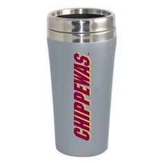 Central Michigan University Flying C Double Walled Travel Tumbler, Silver