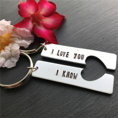 His and Hers Keyring - Valentines Day Gift for him - Star Wars Inspired Gift