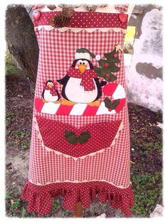 Cartamodelli Natale 2012 : Cartamodello grembiule con pinguini