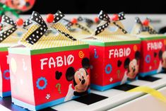 Mickey Mouse birthday party favors! See more party planning ideas at CatchMyParty.com!