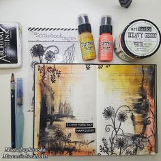 """Marta Lapkowska: About my JOURNAL LOVE + VIDEO tutorial """"I love this day""""; Aug 2015"""