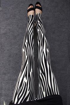 Zebra Printed Leggings