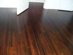 dark stained wood floors