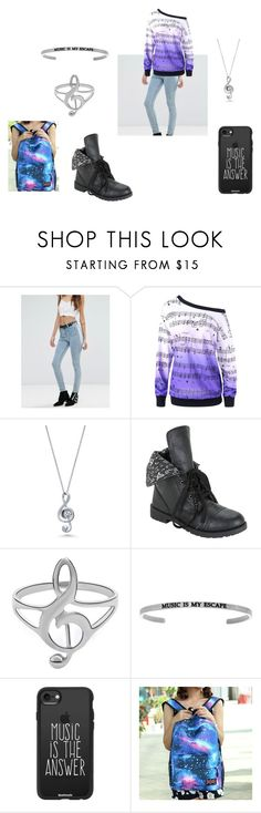 """""""Jolina School 2"""" by silverlp-1 on Polyvore featuring Mode, Free People, Music Notes, BERRICLE, Hot Topic und Casetify"""