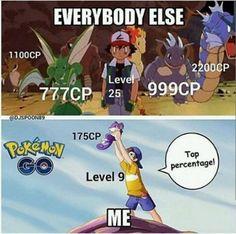 Everybody else vs Me. #pokemongo