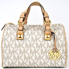 56c6f15000f0d2 Michael Kors Grayson Medium Satchel Vanilla PVC Michael Kors  http://www.amazon