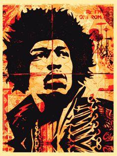 Hendrix Screen Print 18 x 24 inches 2004