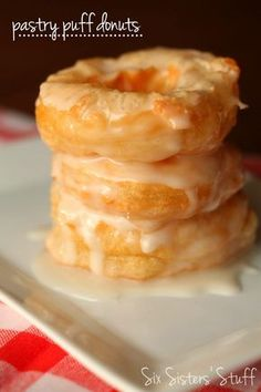 Puff Pastry Glazed Donuts Recipe – Six Sisters' Stuff