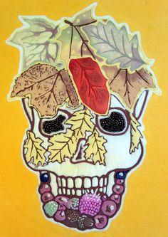 Samhain Skull 28cm x 36cm