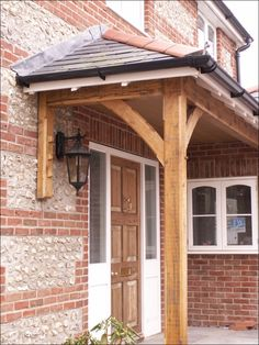 Adam Slatter is a Timber Framed Buildings specialist based in the West Country serving Dorset, Wiltshire and Somerset. Cottage Porch, Cottage House Plans, Cottage Homes, Front Door Porch, Front Porch Design, House Porch Design, Front Door Overhang, Country Front Door, House With Porch