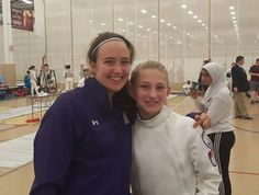 It's a DFC reunion! DFC fencer Madeline J and DFC alum NU fencer Katie V meet at the Remenyik RJCC/ROC this weekend in Illinois