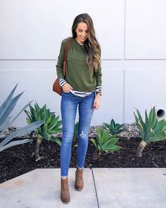 6990349519e Instagram Roundup + Weekend Sales. Green Sweater OutfitWinter ...