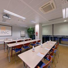 Sala de formación. CINC, Centro de negocios en Barcelona.