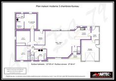 rsultat de recherche dimages pour plan maison l 3 chambres