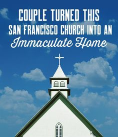 This home in San Francisco was originally a Mormon church built in See how it was transformed. Unusual Homes, San Francisco, Couples, Architecture, Building, Instagram, Arquitetura, Buildings, Romantic Couples