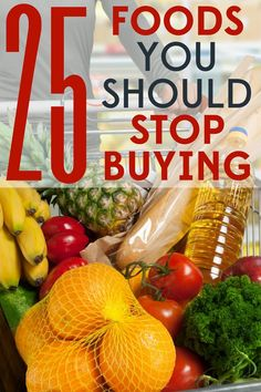 These 25 foods might be busting your grocery budget! Save money on groceries by never buying these foods again!