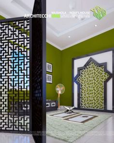all idea inspiration design interior and exterior home modern decor Sister Home, Prayer Corner, Motif Art Deco, Room Partition Designs, Model House Plan, Islamic Decor, Interior And Exterior, Interior Design, Prayer Room