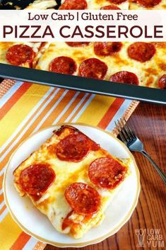 Low Carb Pizza Casserole Recipe - Gluten Free - CUCINA DE YUNG - Düşük karbonhidrat yemekleri - Las recetas más prácticas y fáciles Pizza Casserole Low Carb, Low Carb Pizza, Low Carb Keto, Low Carb Recipes, Cooking Recipes, Casserole Recipes, Pizza Recipes, Dinner Recipes, Spaghetti Casserole