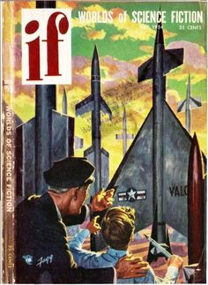 scificovers:  Ifvol 3 no 5 July 1954. Cover art by Ken...
