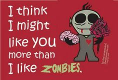 funny zombie valentine's day cards