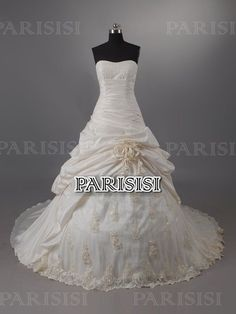 Vestido de fiesta Corazón Tren Capilla Champán vestidos de novia