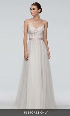 Main Image - Watters 'Azriel' Illusion Neckline Lace & Net A-Line Gown (In Stores Only) Wedding Gown A Line, A Line Gown, Wedding Dress Sizes, Used Wedding Dresses, Perfect Wedding Dress, Bridal Dresses, Wedding Gowns, Wedding Suite, Wedding Bells