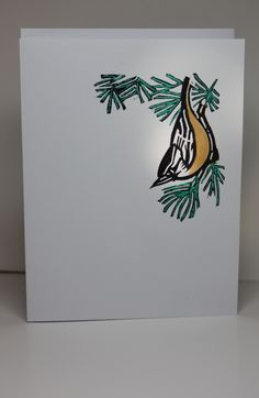 Hand carved Redbrested Nuthatch. Lotte Huxley Easy Cards, Hand Carved, Layouts, Christmas Cards, Greeting Cards, Carving, Stamp, Paper, How To Make