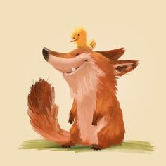 ArtStation - Fox and birdie, Lynn Chen