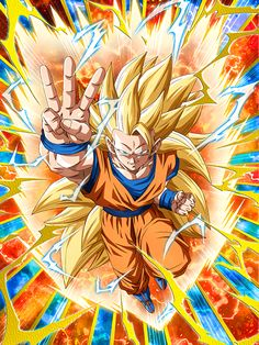 [Toward a Distant World] Super Saiyan 3 Goku/Dragon Ball Z: Dokkan Battle(Japanese Version) Goku Super, Dragon Ball Gt, Dbz, Akira, Dragon Super, Manga Dragon, Ssj3, Got Dragons, King Kong