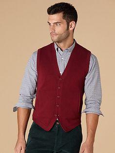 Crimson Sweater Vest. Penguin.