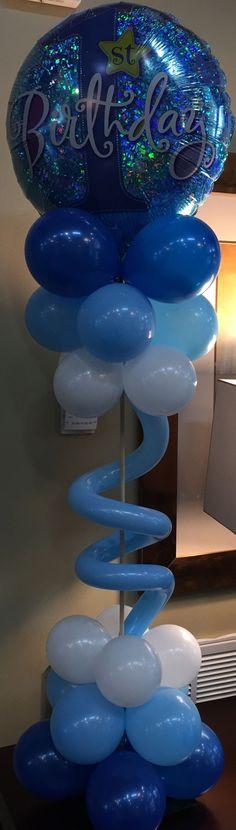 Balloon Table Centerpieces, Centrepieces, Birthday Balloons, Birthday Parties, Balloon Designs, Balloon Columns, Birthday Decorations, Retirement, Creative