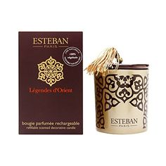 Esteban Legendes d'Orient Scented Decorative Candle Refillable 5.3 oz -- You can get more details by clicking on the image.