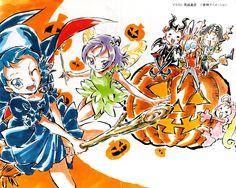 Ojamajo Doremi 16 ~ Umakoshi Yoshihiko Illustrations - Halloween