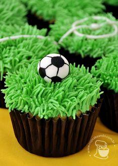 Cupcakes de milho da Copa do Mundo