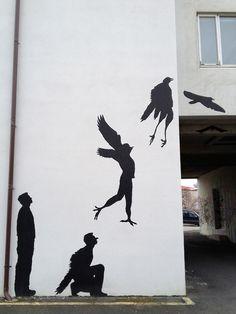 Manbirdbat by Skipholt #street art #graffiti