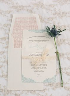 Pastel wedding invitations | Jada Poon Photography | see more on: http://burnettsboards.com/2014/05/dreamy-editorial-inspired-something-blue/ #weddinginvitations