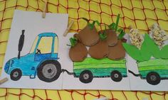 6 Wooden Toys, Album, Halloween, Drawings, Learning, School, Pulley, Farm Gate, Tractor