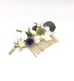 The Celestial Wedding Comb is a chic and sophisticated bridal hair accessory, made in dried natural flowers with blue tones by mariedelphin Celestial Wedding, Bride Hair Accessories, Bride Hairstyles, Bridal Hair, Wedding Flowers, Wedding Planning, Hair Beauty, Classy, Stud Earrings