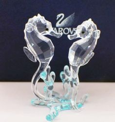 "Swarovski Crystal Figurine Sea Horses #0885589 Size: 3.25"" tall x 2"" wide In a brand new condition in original box"