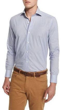 Peter Millar Buoy-Print Long-Sleeve Sport Shirt